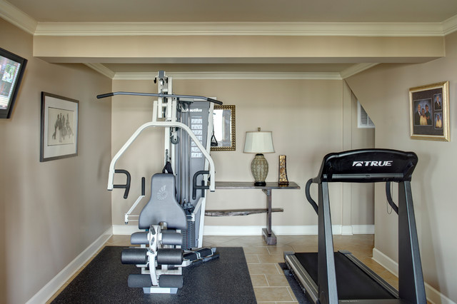 Ultimate man cave workout area traditional home gym other