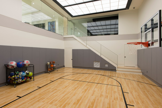 Underground Gym W Artificial Skylight Contemporary