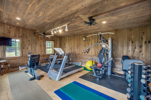 Unique properties mccall rustic home gym boise