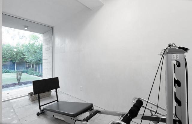 Urban Modern - Modern - Home Gym - san diego - by Elizabeth Courtiér | ArchitectureInSanDiego.com