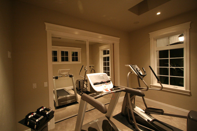 Versatile home office home gym portland by dc fine homes inc.
