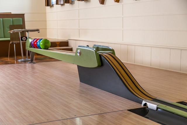 Vintage 1950s Equipment Restored for Retro Home Bowling Alley - Modern - Home Gym - minneapolis ...