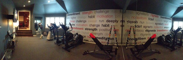 Wall murals Modern Home Gym Houston by Dezign With a Z