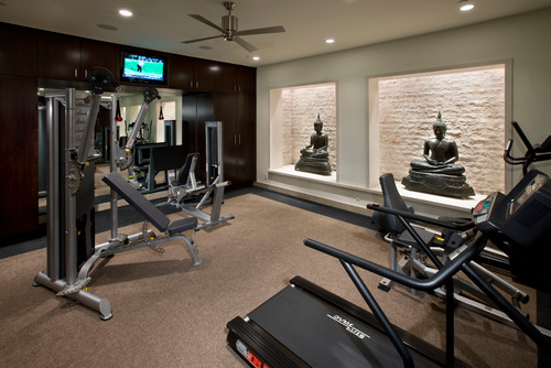 Contemporary Home Gym by Long Beach Architects & Building Designers Kollin Altomare Architects