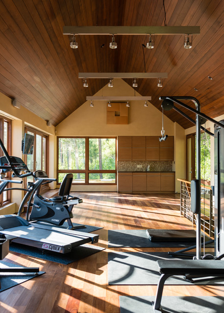 Interior Designers U0026 Decorators. Whitefish Private Spa And Pool House  Contemporary Home Gym Part 87