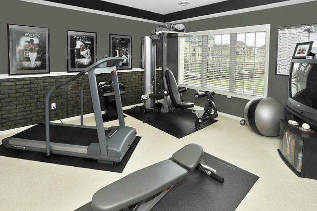 Whole house makeover contemporary home gym minneapolis by