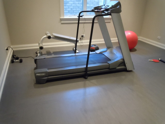 Superb Workout Room Flooring Traditional Home Gym