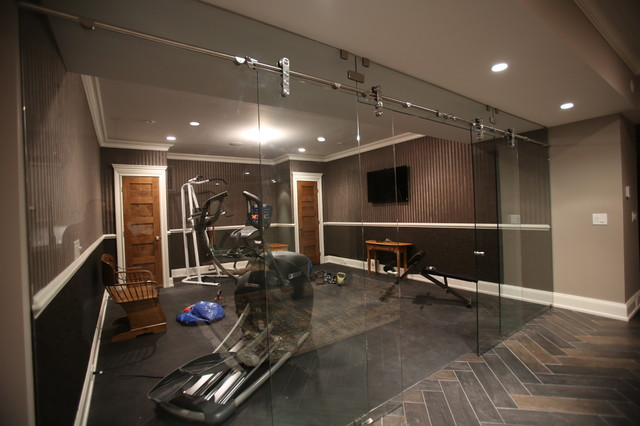 Wyckoff nj basement living Living room gym