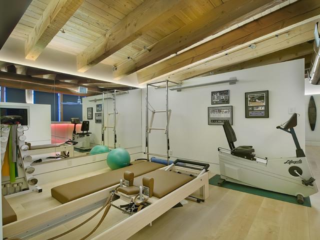 Wynkoop denver loft contemporary home gym denver by