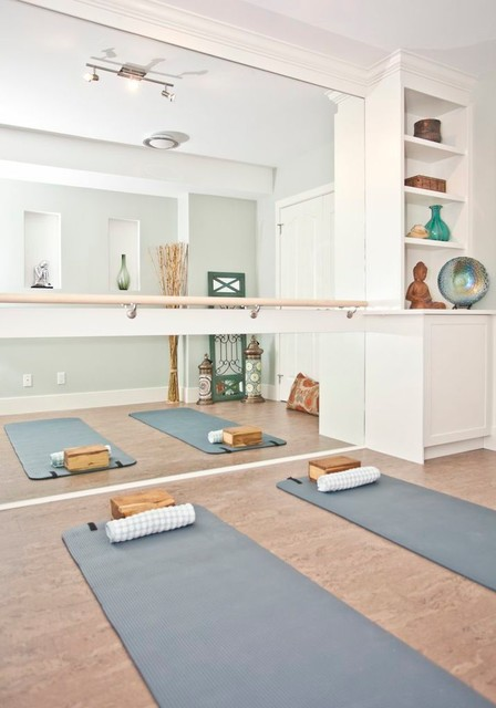 Yoga Room - Transitional - Home Gym - calgary - by ANA Interiors