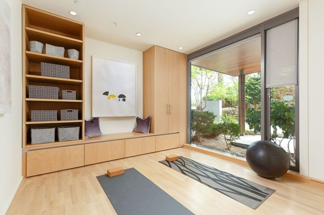 Yoga Room Contemporary Home Gym