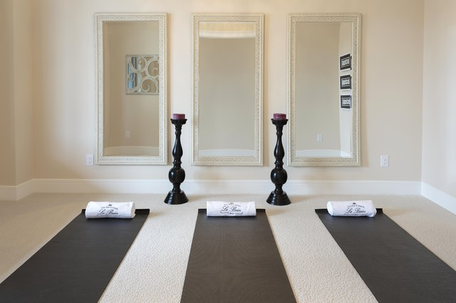 Lovely Yoga Room Eclectic Home Gym