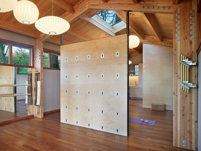 inspiration for a modern home yoga studio remodel in seattle