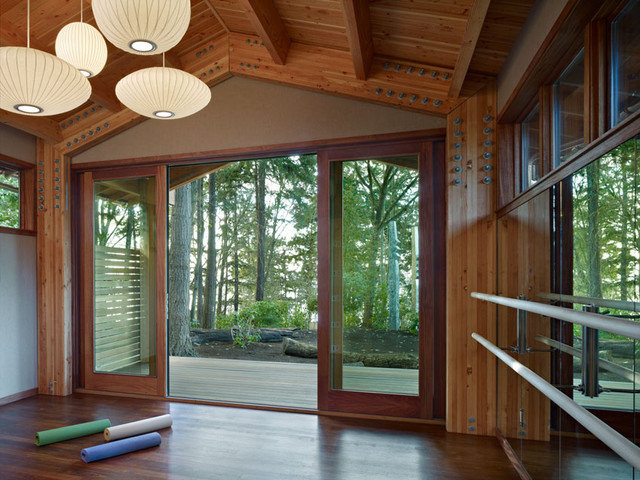 Yoga Studio Modern Home Gym Seattle By Shks Architects