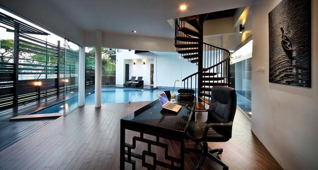 1 cheng soon lane asiatisch arbeitszimmer singapur von the interior place s pte ltd. Black Bedroom Furniture Sets. Home Design Ideas