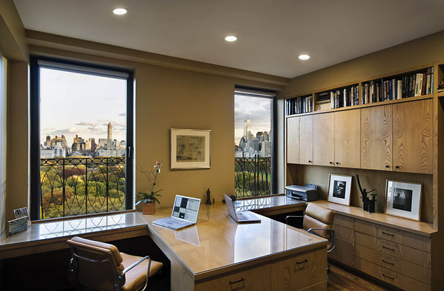 101 Central Park West: Home Office traditional home office