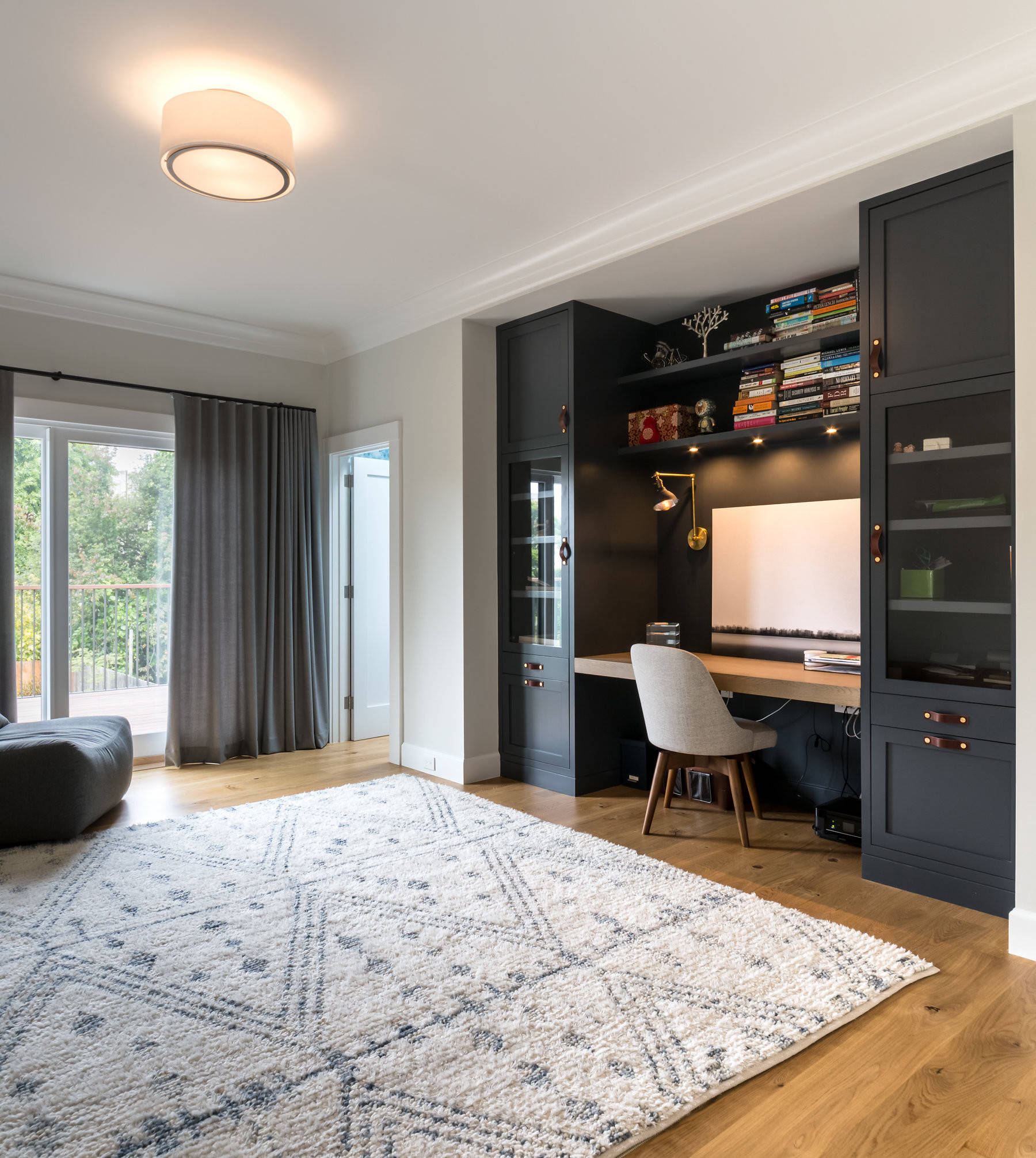 Floor To Ceiling Cabinets Home Office Ideas Photos Houzz