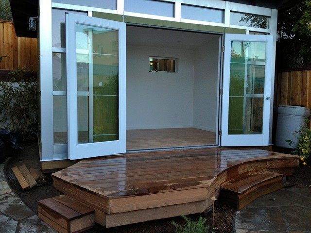 Office French Doors : Signature series studio shed double glass french