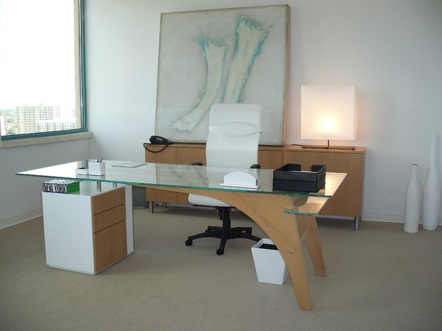 1400 desk modern home office miami by fd m group inc