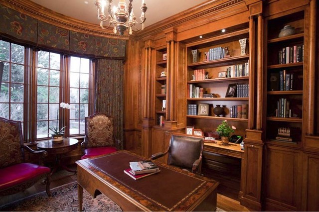 18th c georgian traditional home office and library - Traditional Home Office