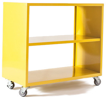 Shelf Active Duty Bookcase Open Back with Casters - Modern - Home ...