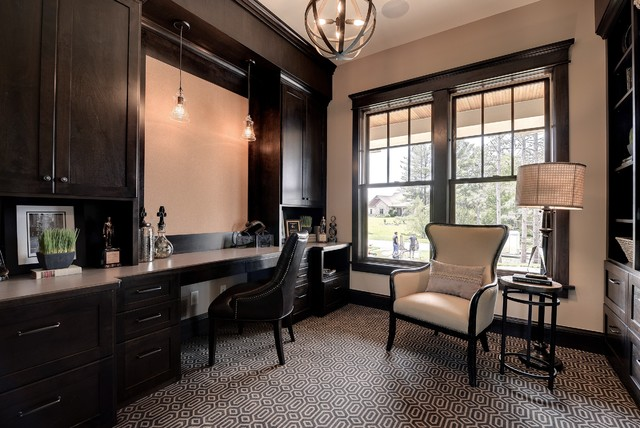 2013 luxury home inver grove heights traditional home office minneapolis by highmark. Black Bedroom Furniture Sets. Home Design Ideas