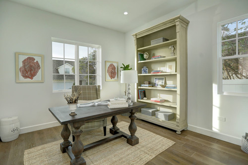 Beach Style Home Office by Marina Del Rey General Contractors Zen Construction Co.