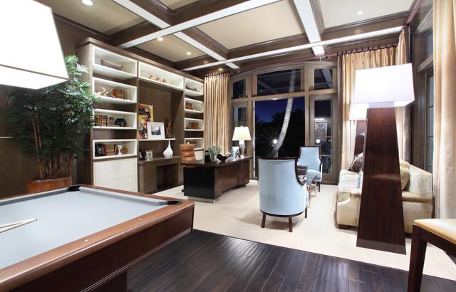 2821 Spanish River Road Residence contemporary-home-office