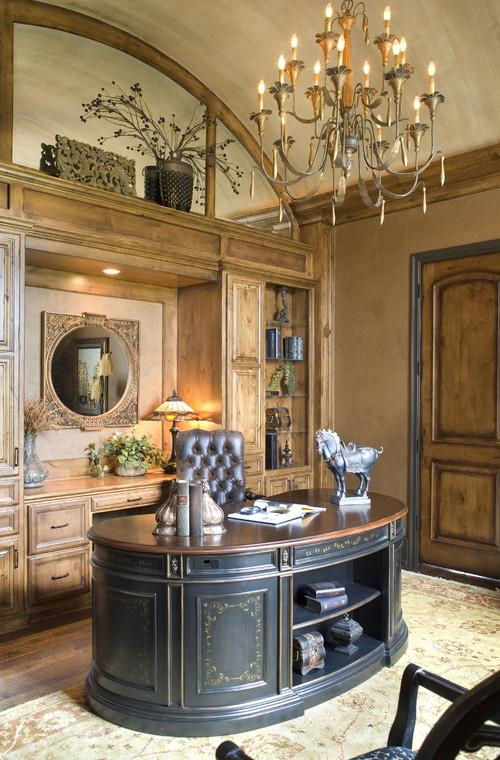 классический кабинет с полукруглым столом