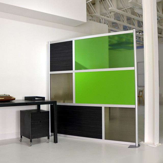 6 39 modern divider green translucent modern home office dallas by loftwall divider - Wall separator ...