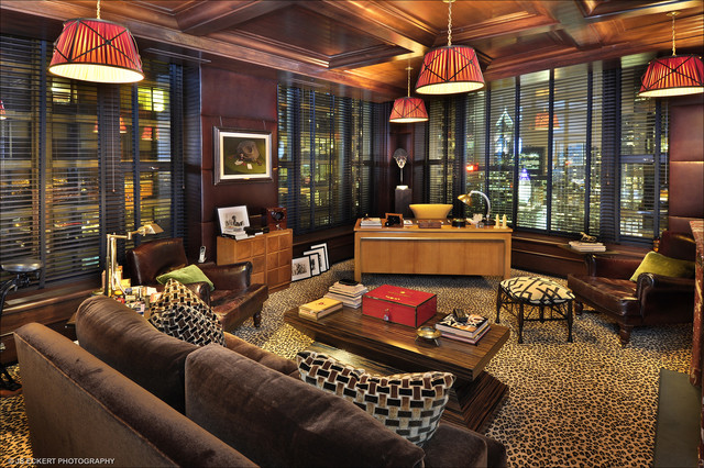 7000 sq ft penthouse eclectic home office chicago home office