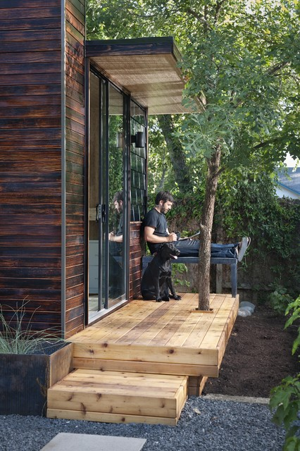 92 Square Foot Backyard Office modern-home-office