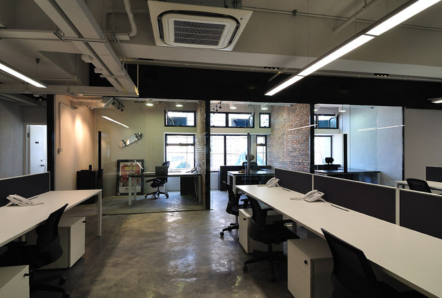 A cool raw office design modern home office hong for Modern tech office design
