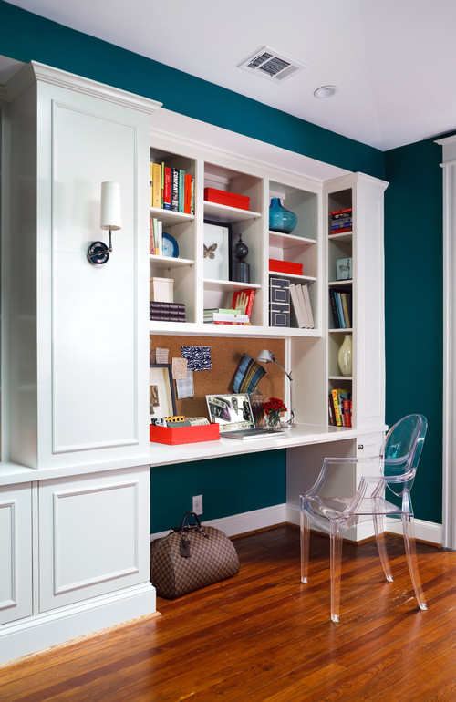 Color case study blue hues evolution of style for Office design houzz