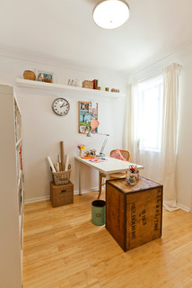 A Junk Room Turned Craft Room - Eclectic - Home Office