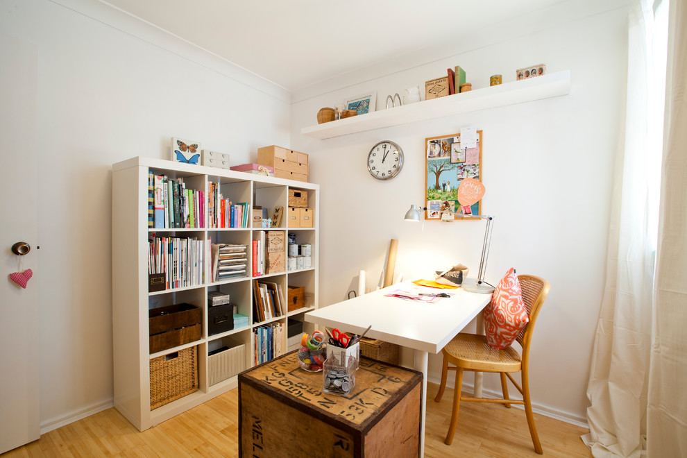 A Junk Room Turned Craft Room Eclectic Home Office Perth By House Nerd