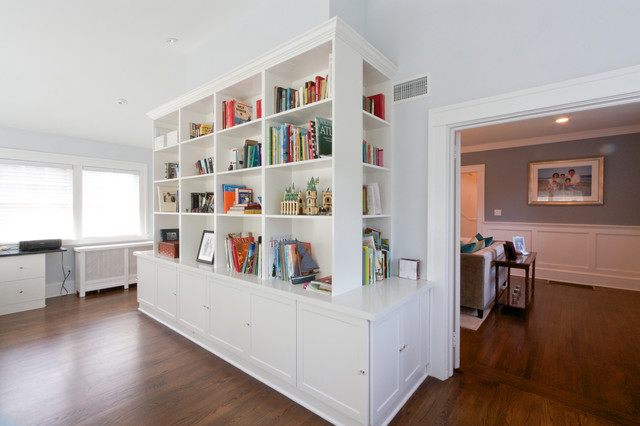 modern renovation for a traditional colonial modern home office