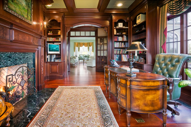 A perfect blend traditional home office new york for Office design group inc