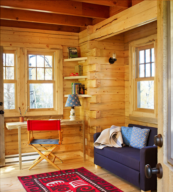 A Treehouse Fit for Kid Sleepovers and Adult Dinner Parties rustic-home-office