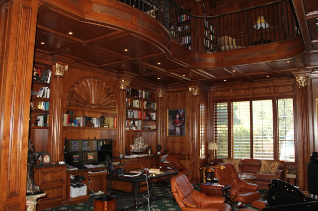 Abby Library eclectic-home-office