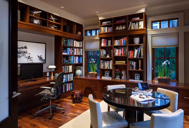 Bon Acadia Road Residence Traditional Home Office
