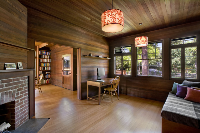 traditional home office by Cathy Schwabe Architecture