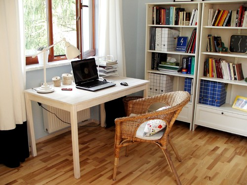 Agata Winer eclectic home office