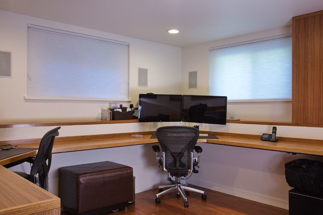 basement conversion to new home office contemporary home office