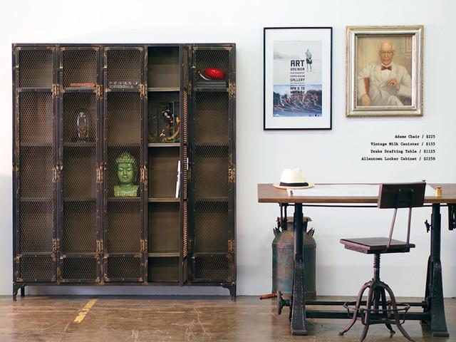 industrial style home office. Allentown Locker Cabinet Industrial-home-office-and-library Industrial Style Home Office I