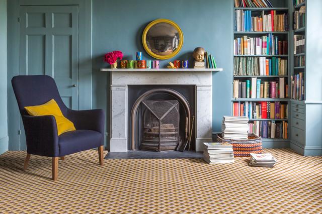 Alternative Flooring Quirky B Lattice Flitcroft Carpet By Ben Pentreath Transitional Home Office