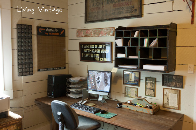 Alto Home Office Rustic Home Office Houston By Living Vintage