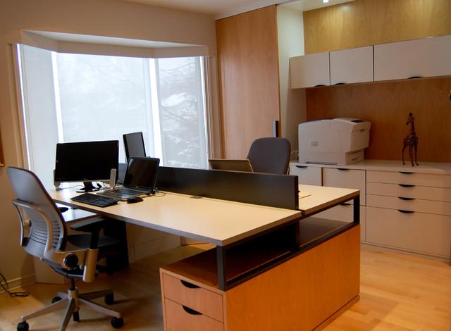 Aménagement d'un bureau résidentiel - Longueuil modern-home-office