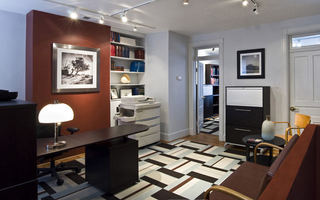 Interior Designers & Decorators. An attorney's office contemporary-home- office