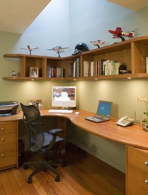 AND Interior Design Studio contemporary home office